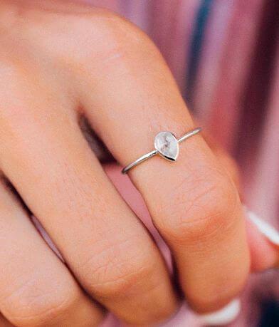 Pura Vida Moonstone Teardrop Ring