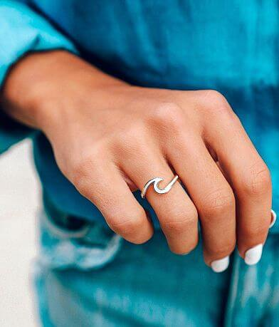 Pura Vida Enamel Wave Ring