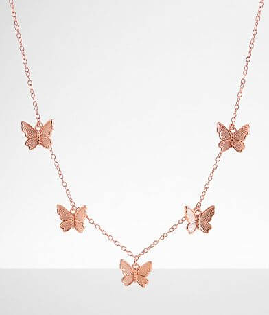Pura Vida Butterfly In Flight Choker Necklace