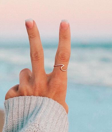 Pura Vida Lil Wave Ring