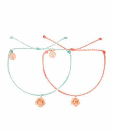 Pura Vida Hibiscus Charm Bracelet