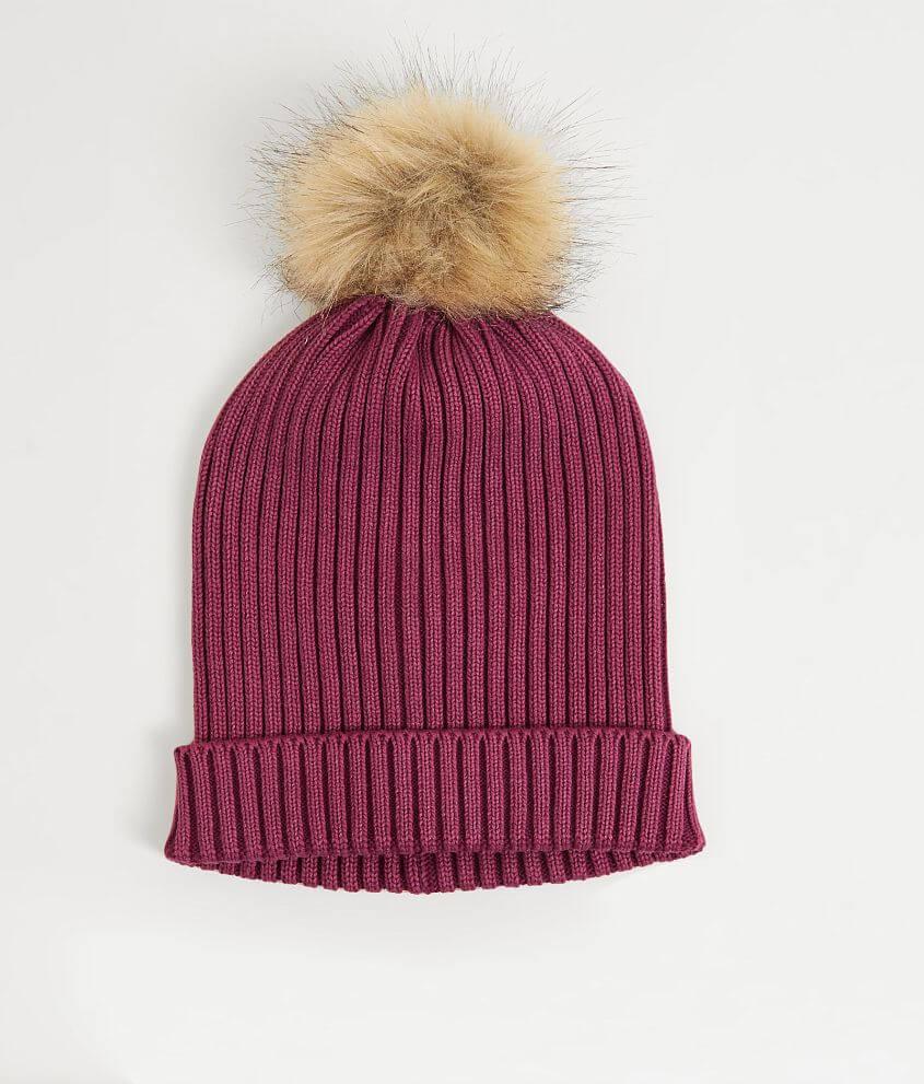 917ba53e9212a Pom Pom Beanie - Women s Hats in Burgundy
