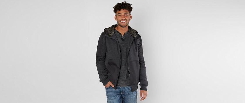 Buckle Black Charge Hooded Jacket front view