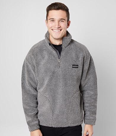 Quiksilver Bogong Gum Sherpa Quarter Zip Pullover