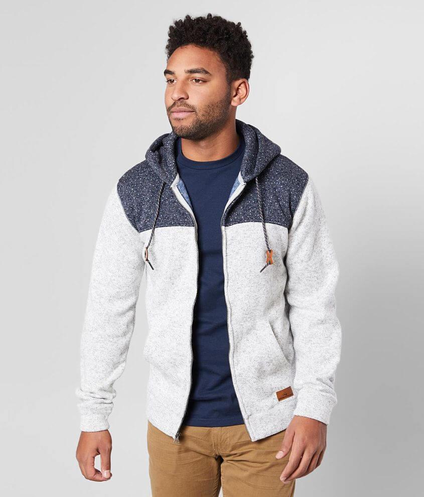 Quiksilver Keller Color Block Hooded Sweatshirt front view