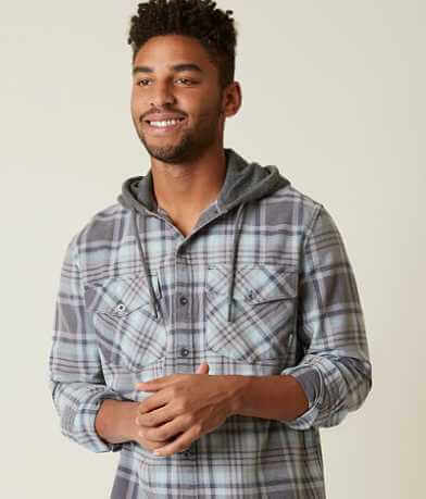 Quiksilver Tang Hooded Plaid Shirt