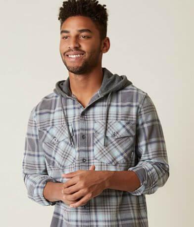 Quiksilver Tang Hooded Plaid Shirt