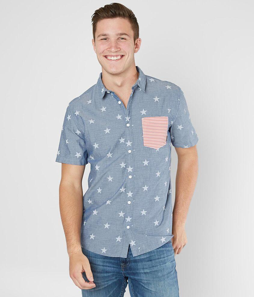 Quiksilver Mens 4th July Shirt Woven Top