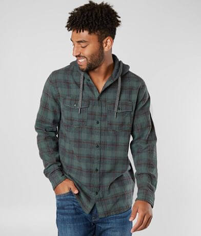 Quiksilver Snap Up Flannel Hooded Shirt