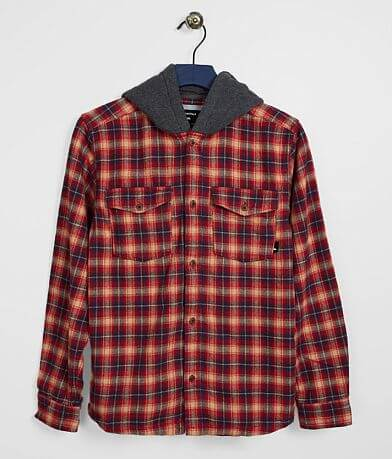 Boys - Quiksilver Hooded Plaid Shirt