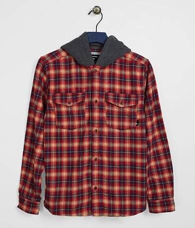 Boys - Quiksilver Hooded Plaid Shirt