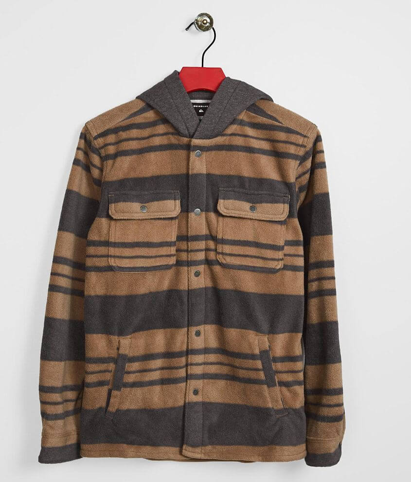 Boys - Quiksilver Surf Days Hooded Fleece Shirt front view
