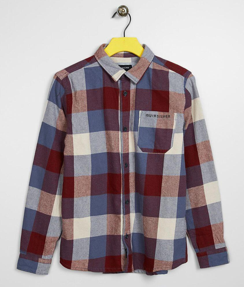 Boys - Quiksilver Motherfly Flannel Shirt front view