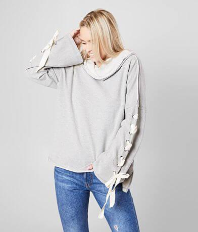 BKE Cowl Neck Drop Shoulder Sweatshirt