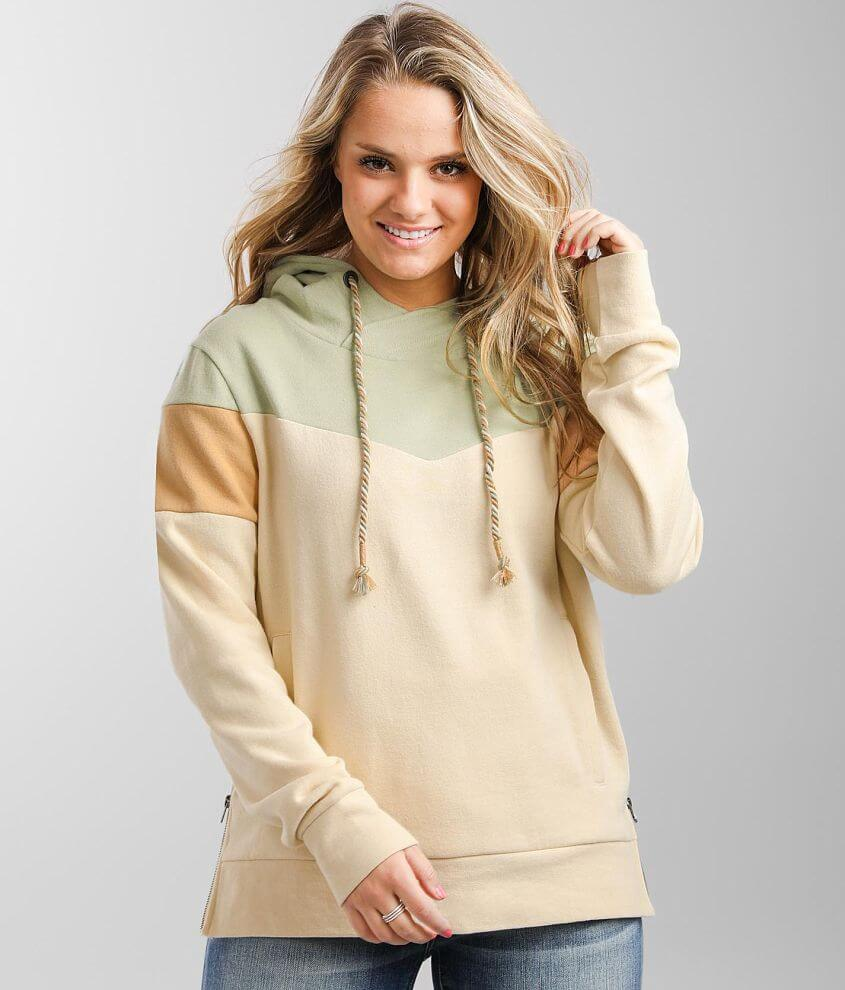 BKE Color Block Hooded Sweatshirt front view