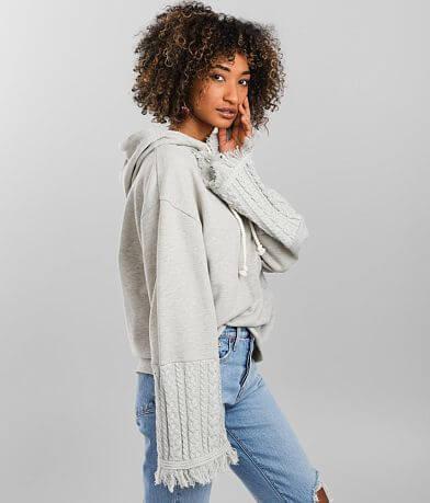 BKE Pieced Pullover Hooded Sweatshirt