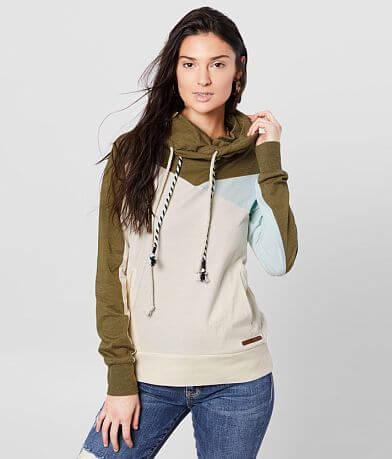BKE Color Block Cowl Neck Pullover