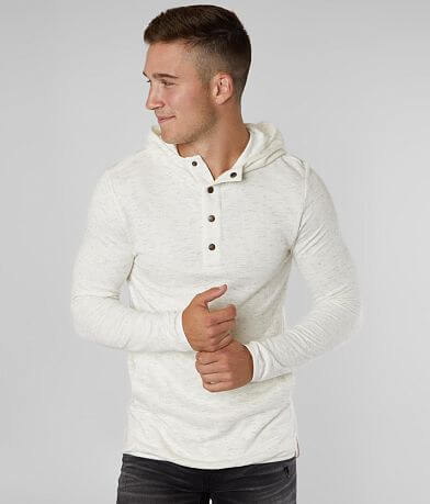 Outpost Makers Marled Henley Hoodie