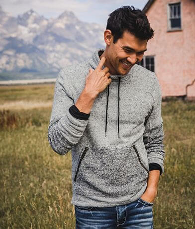Outpost Makers Reverse Pieced Mock Neck Pullover