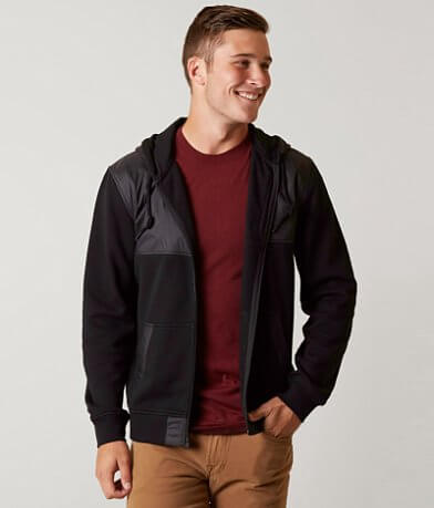 Buckle Black Mixer Hooded Jacket
