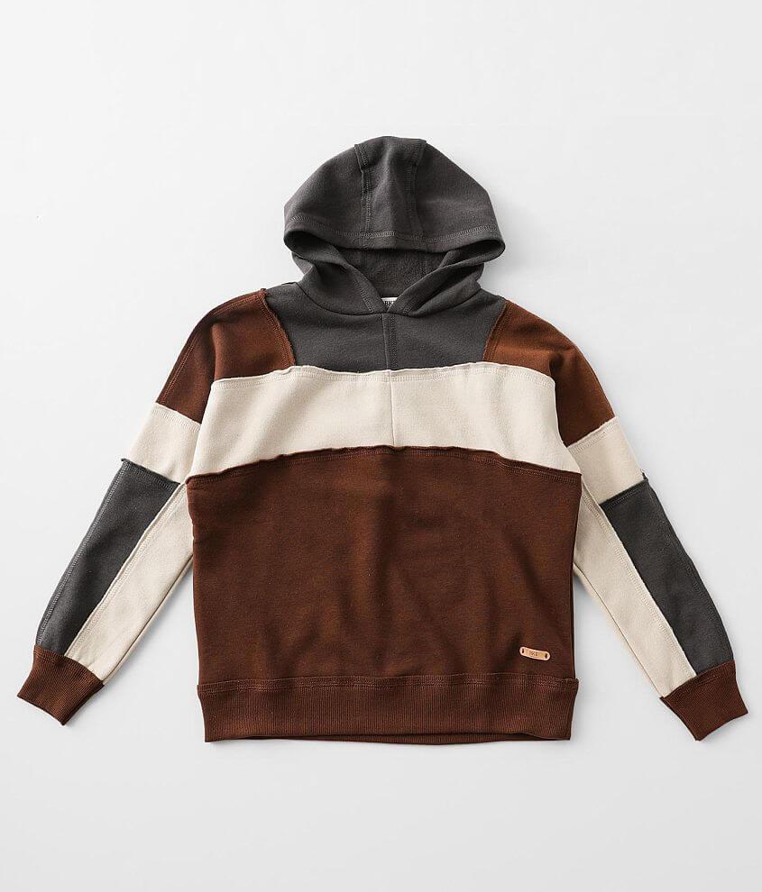 Girls - BKE Color Block Hooded Sweatshirt front view