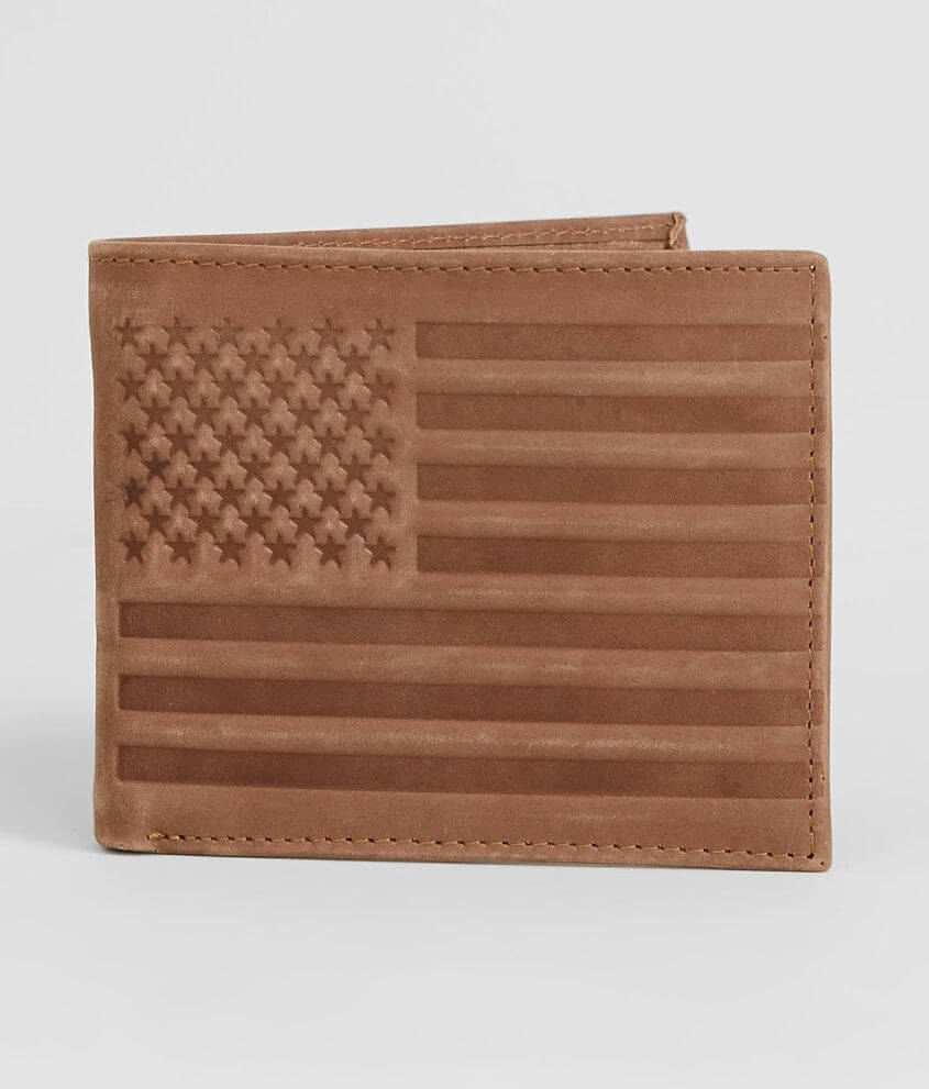 BKE Flag Leather Wallet front view