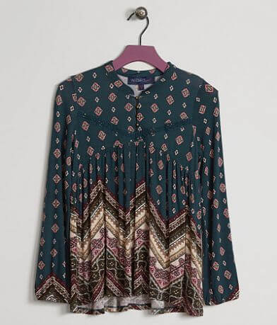 Girls - Weavers Girl Printed Henley Top