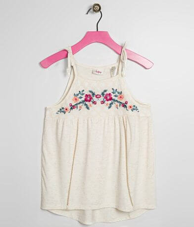 Girls- Daytrip Floral Embroidered Tank Top