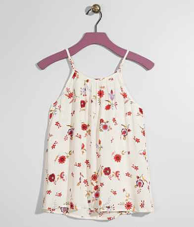 Girls - Daytrip Floral Crinkle Tank Top
