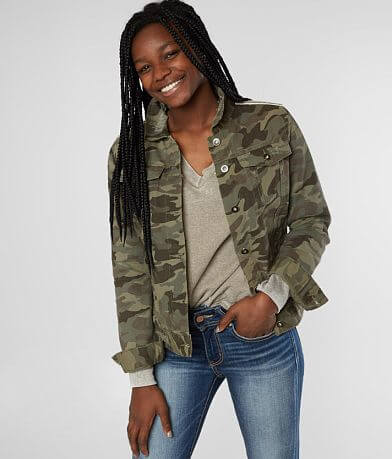 BKE Denim Camo Jacket