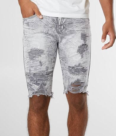 Waimea Denim Acid Washed Stretch Short