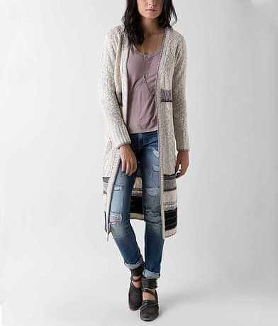 Daytrip Striped Duster Cardigan Sweater