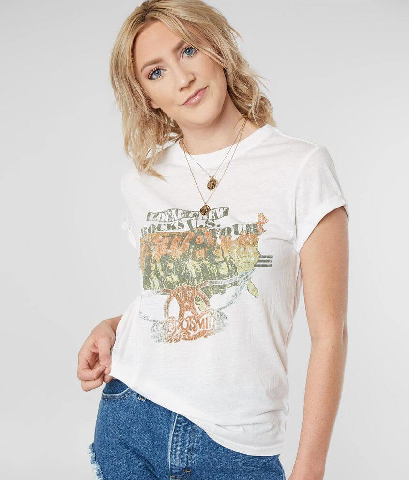 Project Karma Aerosmith Band Burnout T-Shirt