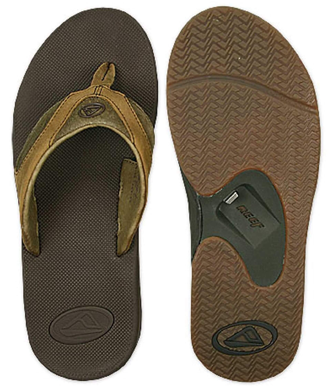 6e42aa6da83fe6 Reef Fanning Bottle Opener Leather Flip - Men s Shoes in Brown Brown ...