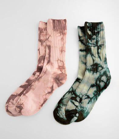 Muk Luks 2 Pack Tie Dye Socks