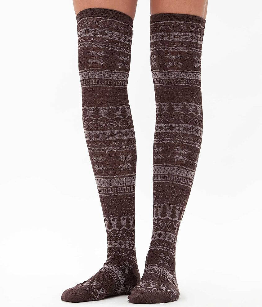 Muk Luks Textured Socks front view