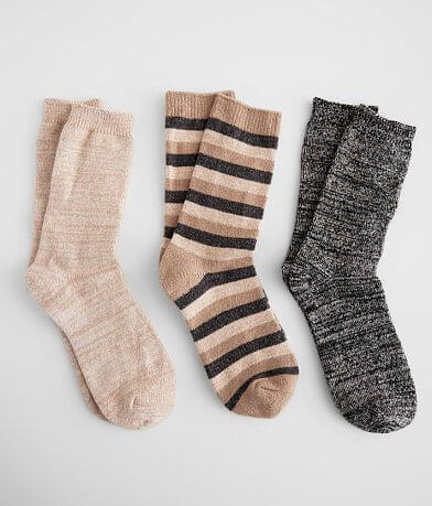 Muk Luks 3 Pack Cozy Knit Socks