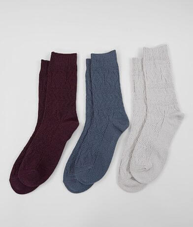 Muk Luks 3 Pack Solid Socks