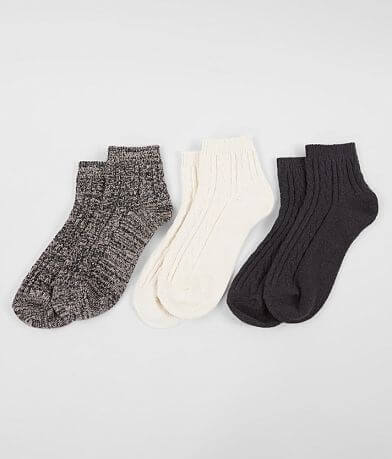 Muk Luks 3 Pack Ankle Socks