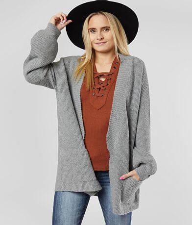 Daytrip Slouchy Ribbed Cardigan Sweater