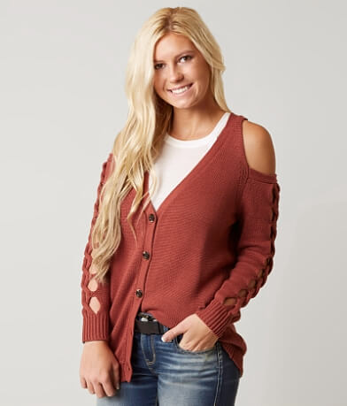 Daytrip Cold Shoulder Cardigan Sweater