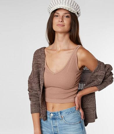 Daytrip Pointelle Cable Knit Cardigan Sweater