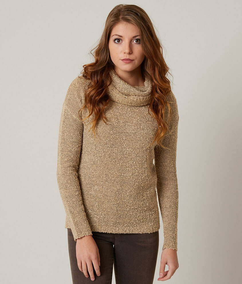 Daytrip Cowl Neck Sweater - Women's Sweaters in Beige | Buckle