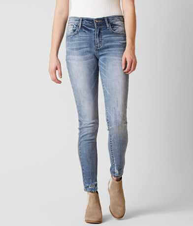 HELLAHECTIK Mid-Rise Ankle Skinny Stretch Jean