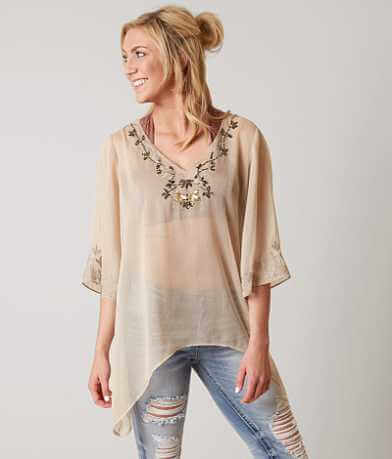 BKE Boutique Chiffon Top