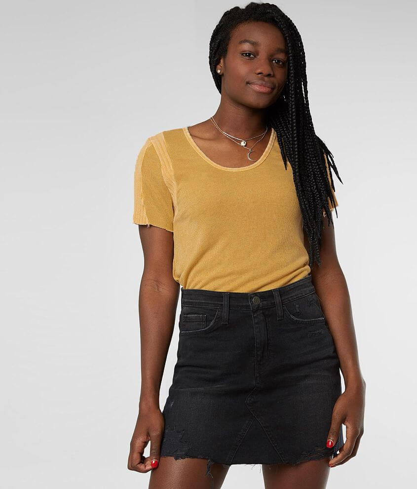 Gilded Intent Washed Knit Top front view