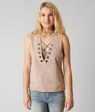 Gilded Intent Washed Tank Top