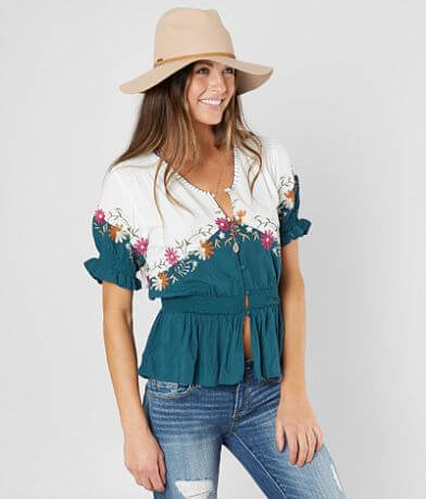 Gimmicks Floral Embroidered Top