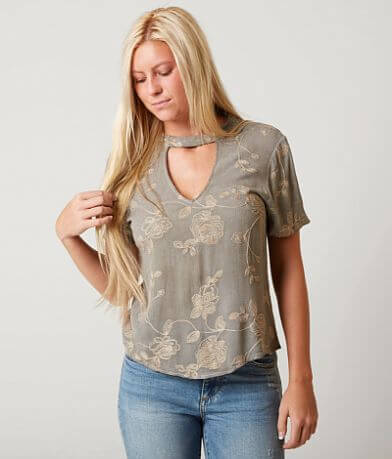 Gimmicks Embroidered Floral Top
