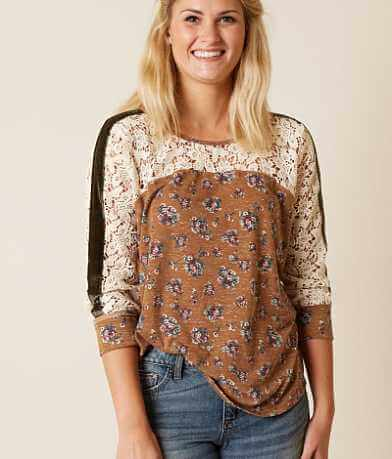 Gimmicks Floral Pieced Top